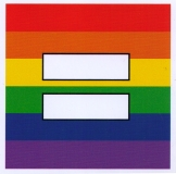 "Rainbow Equal Sign - Small Bumper Sticker / Decal (3.5"" X 3.5"")"