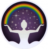 "Rainbow Woman - Bumper Sticker / Decal (4.5"" Circular)"