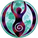 """Goddess Moon - Small Bumper Sticker / Decal (3"""" Circular)"""