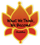 "What We Think, We Become - Buddha - Small Bumper Sticker / Decal (3.5"" X 4"")"