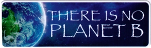 "There is No Planet B - Small Bumper Sticker / Decal (5.5"" X 1.75"")"