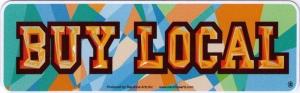 "Buy Local - Small Bumper Sticker / Decal (5.5"" X 1.75"")"