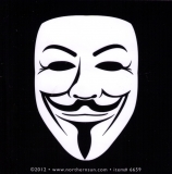 "Guy Fawkes Face - Small Bumper Sticker / Decal (4"" Square)"