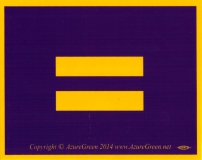 """Equality Sign - Small Bumper Sticker / Decal (3.75"""" X 3"""")"""