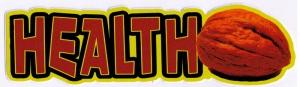 "Health Nut - Small Bumper Sticker / Decal (5.5"" X 1.5"")"