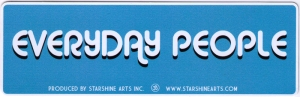 """Everyday People - Small Bumper Sticker / Decal (5.5"""" X 2"""")"""