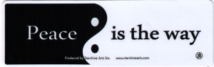 """Peace is the Answer - Small Bumper Sticker / Decal (5.5"""" X 1.5"""")"""