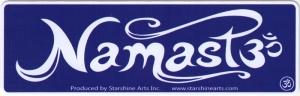 "Namaste - Small Bumper Sticker / Decal (5.5"" X 1.5"")"