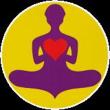 "Yoga Lover - Small Bumper Sticker / Decal (3"" Circular)"
