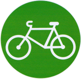 "Bicycle - Small Bumper Sticker / Decal (3"" Circular)"
