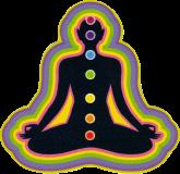 "Chakra Being - Small Bumper Sticker / Decal (3"" X 3"")"