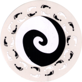 "Tao of Hearts - Small Bumper Sticker / Decal (3"" Circular)"