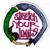 """Stretch Your Limits - Small Bumper Sticker / Decal (3"""" Circular)"""