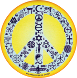 "Coexist Peace Sign - Small Bumper Sticker / Decal (3"" Circular)"