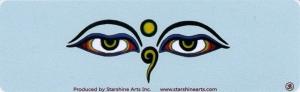 Buddha Eyes - Small Bumper Sticker