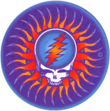 "Steal Your Face Sun - Small Bumper Sticker / Decal (3"" Circular)"