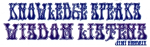 Knowledge Speaks, Wisdom Listens - Jimi Hendrix - Small Bumper Sticker / Decal (