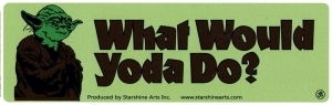 "What Would Yoda Do? - Small Bumper Sticker / Decal (5.5"" X 1.75"")"