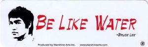 Be Like Water - Bruce Lee - Small Bumper Sticker