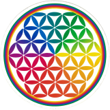 "Flower of Life - Small Bumper Sticker / Decal (3.5"" Circular)"