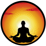 "Meditation - Small Bumper Sticker / Decal (3.5"" Circular)"