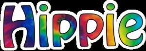 "Hippie - Small Bumper Sticker / Decal (6"" X 2"")"