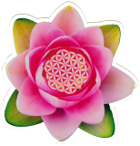 "Lotus Flower - Small Bumper Sticker / Decal (4.5"" X 4.5"")"