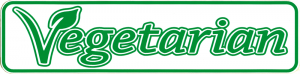 "Vegetarian - Small Bumper Sticker / Decal (6"" X 1.5"")"