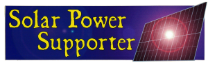 "Solar Power Supporter - Small Bumper Sticker / Decal (5.75"" X 1.75"")"