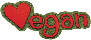 "Vegan - Small Bumper Sticker / Decal (5.5"" X 2"")"