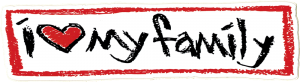 "I Love My Family - Small Bumper Sticker / Decal (5.5"" X 1.5"")"