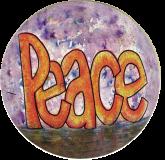 "Peace - Small Bumper Sticker / Decal (3"" Circular)"