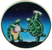 "Grateful Dead Terrapins - Small Bumper Sticker / Decal (2.25"" Circular)"