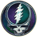 "Grateful Dead Steal Your Face Batik - Small Bumper Sticker / Decal (2.25"")"