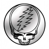 "Grateful Dead Chrome Steal Your Face - Small Bumper Sticker / Decal (4"" Circular"