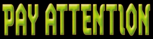 """Pay Attention - Small Bumper Sticker / Decal (5.5"""" X 1.5"""")"""