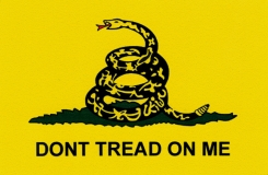 "Don't Tread On Me - Small Bumper Sticker / Decal (3.5"" X 2.25"")"