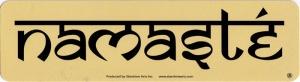 Namaste - Small Bumper Sticker