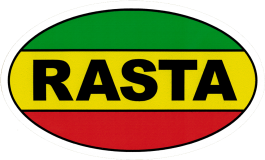 "Rasta - Small Bumper Sticker / Decal (5"" X 3"")"