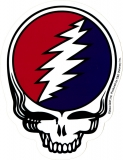 "Grateful Dead Steal Your Face - Bumper Sticker / Decal (4"" X 5"")"
