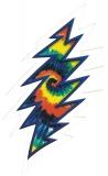 """Grateful Dead Tie Dye Lightening Bolt - Bumper Sticker / Decal (3.5"""" X 6.5"""")"""