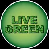 "Live Green  - Small Bumper Sticker / Decal (3.5"" Circular)"