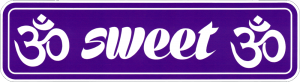 "Sweet Om - Small Bumper Sticker / Decal (6"" X 1.75"")"