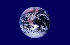 "Earth Flag - Small Bumper Sticker / Decal (3.5"" X 2.25"")"