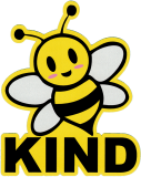 "Bee Kind - Small Bumper Sticker / Decal (3.25"" X 4"")"