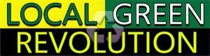 """Local Green Revolution - Small Bumper Sticker / Decal (5.5"""" X 1.5"""")"""