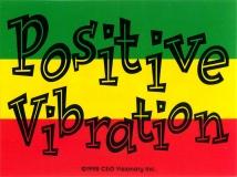"Positive Vibration - Small Bumper Sticker / Decal (4"" X 3"")"
