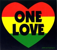 One Love - Small Bumper Sticker
