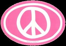 "Peace Sign - Small Bumper Sticker / Decal (3.5"" X 5"")"