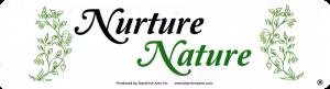 "Nurture Nature - Small Bumper Sticker / Decal (5.5"" x 1.75"")"